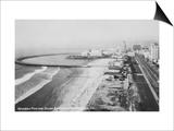 Long Beach  California Rainbow Pier and Ocean Blvd Photograph - Long Beach  CA
