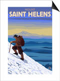 Mountain Climbing  Mount St Helens  Washington