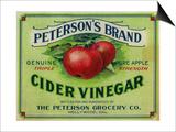 Hollywood  California - Peterson's Cider Vinegar Label