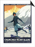 Chamonix Mont-Blanc  France - Ice Skating
