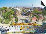 Park Guell  Barcelona  Catalonia  Spain  Europe