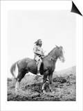 Nez Perce Indian on Horseback Edward Curtis Photograph