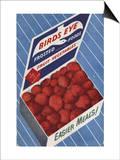 1950's Birds Eye Frozen Strawberries Advertisement