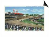 Louisville  Kentucky - Souvenir of the Kentucky Derby; Race Scene