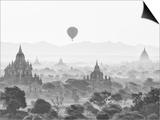 Balloon Over Bagan at Sunrise  Mandalay  Burma (Myanmar)