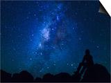 USA  Hawaii  the Big Island  Milky Way from Mauna Kea Observatory (4200m)