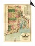 Rhode Island - Panoramic Map