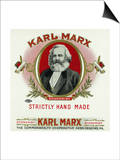 Karl Marx Brand Cigar Box Label  Karl Marx
