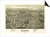 Elkins  West Virginia - Panoramic Map