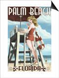 Palm Beach  Florida - Pinup Girl Lifeguard