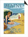 York Beach  Maine - Beach Scene