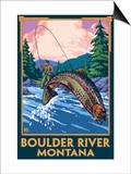 Boulder River  Montana - Fly Fishing Scene