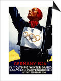 Bavaria  Germany - 1936 Olympic Winter Games Advertisement Poster