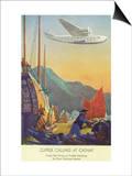 Pan-American Clipper Flying Over China - Hong Kong  China