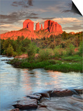 USA  Arizona  Sedona  Cathedral Rock Glowing at Sunset