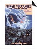 The Big Island  Hawaii - Lava Flow Scene