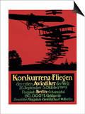 Berlin  Germany - Konkurrenz-Fliegen Airfield Promotional Poster