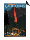 Firefall and Camp Curry - Yosemite National Park  California