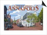 Historic Annapolis  Maryland Street View