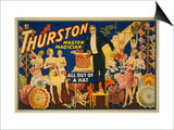 "Thurston  Master Magician ""Out of a Hat"" Magic Poster"