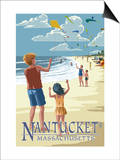 Nantucket  Massachusetts - Kite Flyers