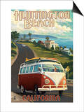 Huntington Beach  California - VW Van Cruise