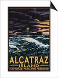 Alcatraz Island Night Scene - San Francisco  CA