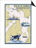 Poulsbo  Washington - Nautical Chart