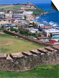 Castillo San Felipe Del Morro Overlooking Coastline  San Juan  Puerto Rico