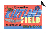 Albuquerque  New Mexico - Kirtland Field  Large Letter Scenes