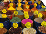 Teas and Spices at Spice Bazaar  Istanbul  Turkey