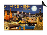 St Augustine  Florida - Night Scene