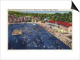 Charleston  West Virginia - Rock Lake Swimming Pool View