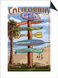 Venice Beach  California - Destination Sign