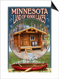 Minnesota - Cabin and Lake