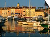 Harbour Boats and Waterfront Houses  St Tropez  Provence-Alpes-Cote d'Azur  France
