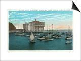 Santa Catalina Island  California - Yachts at Anchor in Avalon Bay