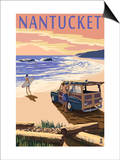 Nantucket  Massachusetts - Woody on Beach