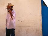 Old Man with Transistor Radio and Cigar  Havana  Havana  Cuba