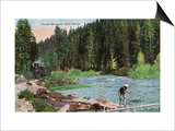 Lake Tahoe  California - Truckee River Near Tahoe Tavern Scene
