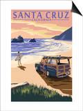 Santa Cruz  California - Woody on Beach