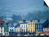 Colourful Houses on Misty Day  Bantry  Ireland