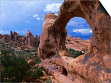 Looking Through an Arch in Arches National Monument  Utah  Arches National Park  USA