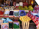 Fruit and Vegetable Shop on Roadside  Oaxaca  Mexico