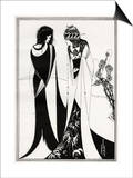 John and Salome ' - Aubrey Beardsley 's illustration for 'salome ' by Oscar Wilde