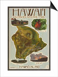 Map of Hawaii - Hawaii Volcanoes National Park
