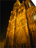 Strasbourg's Cathedrale of Notre Dame at Night  Strasbourg  Alsace  France