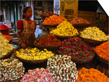 Flower Seller at the New Market  Kolkata  West Bengal  India