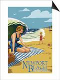 Newport Beach  California - Woman on the Beach