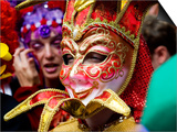 Person in Venetian Mask  New Orleans Mardi Gras